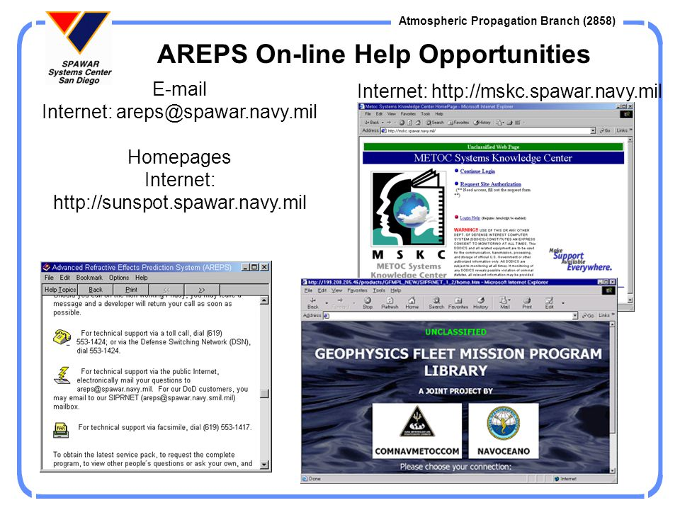 AREPS On-line Help Opportunities