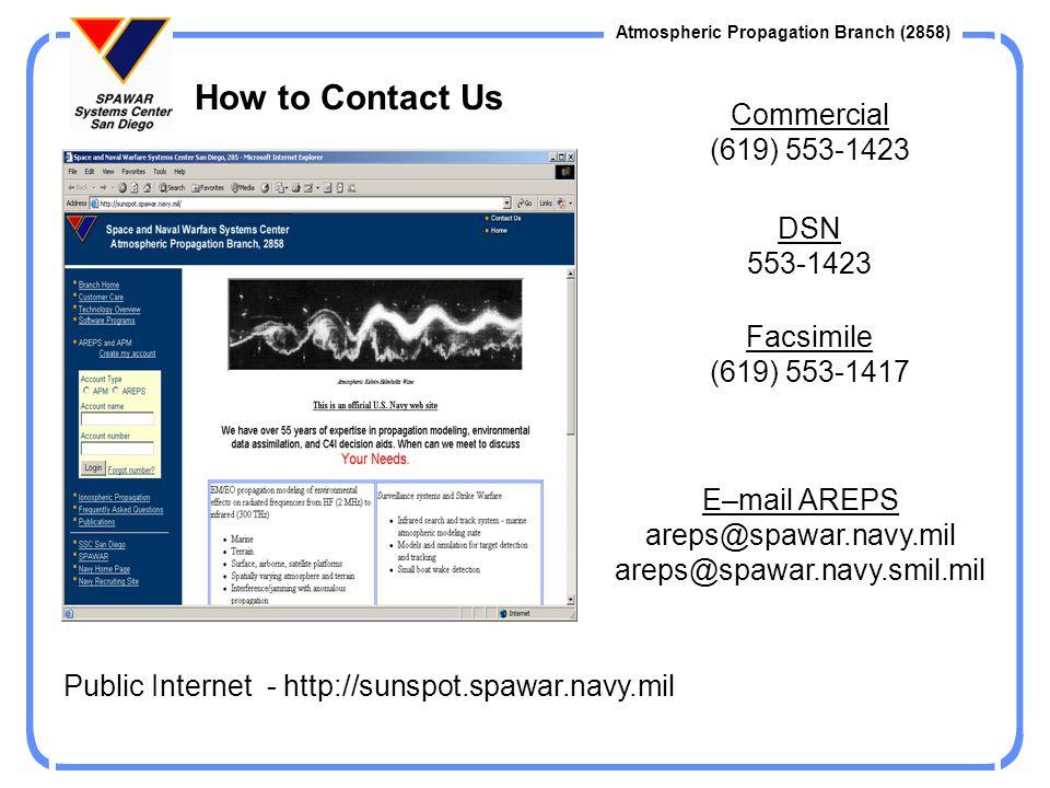 E–mail AREPS areps@spawar.navy.mil