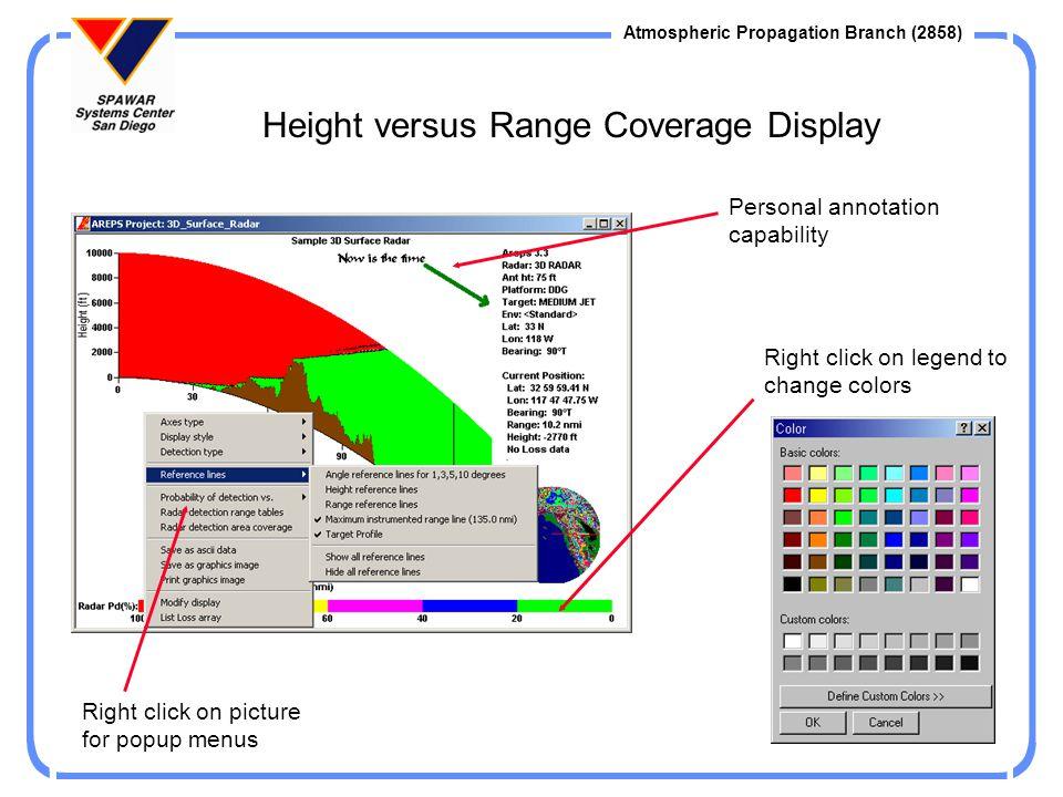 Height versus Range Coverage Display