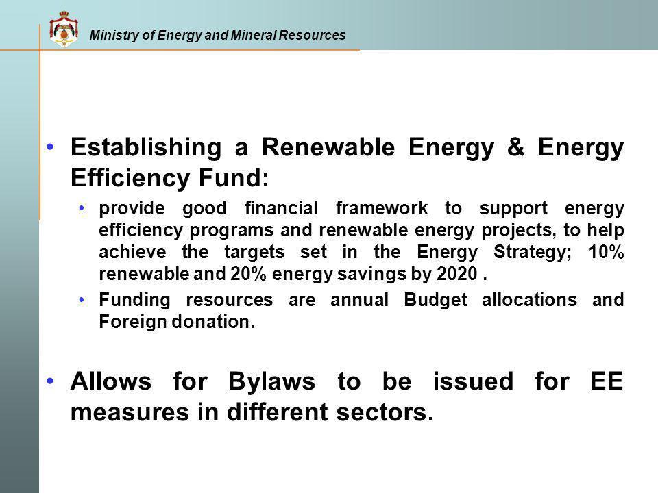 Establishing a Renewable Energy & Energy Efficiency Fund: