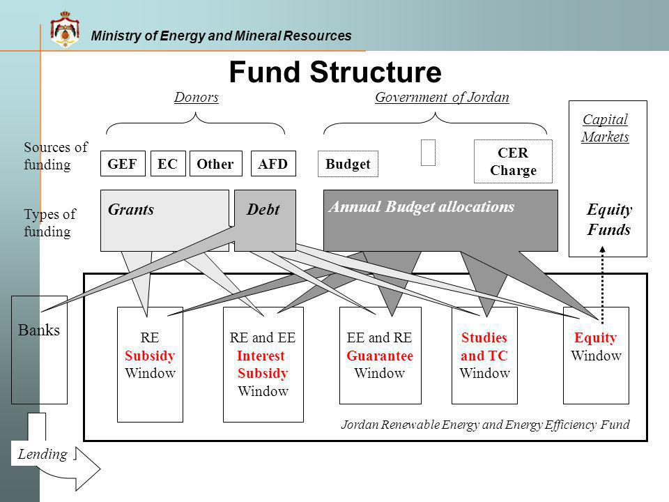Fund Structure Grants Debt Annual Budget allocations Equity Funds