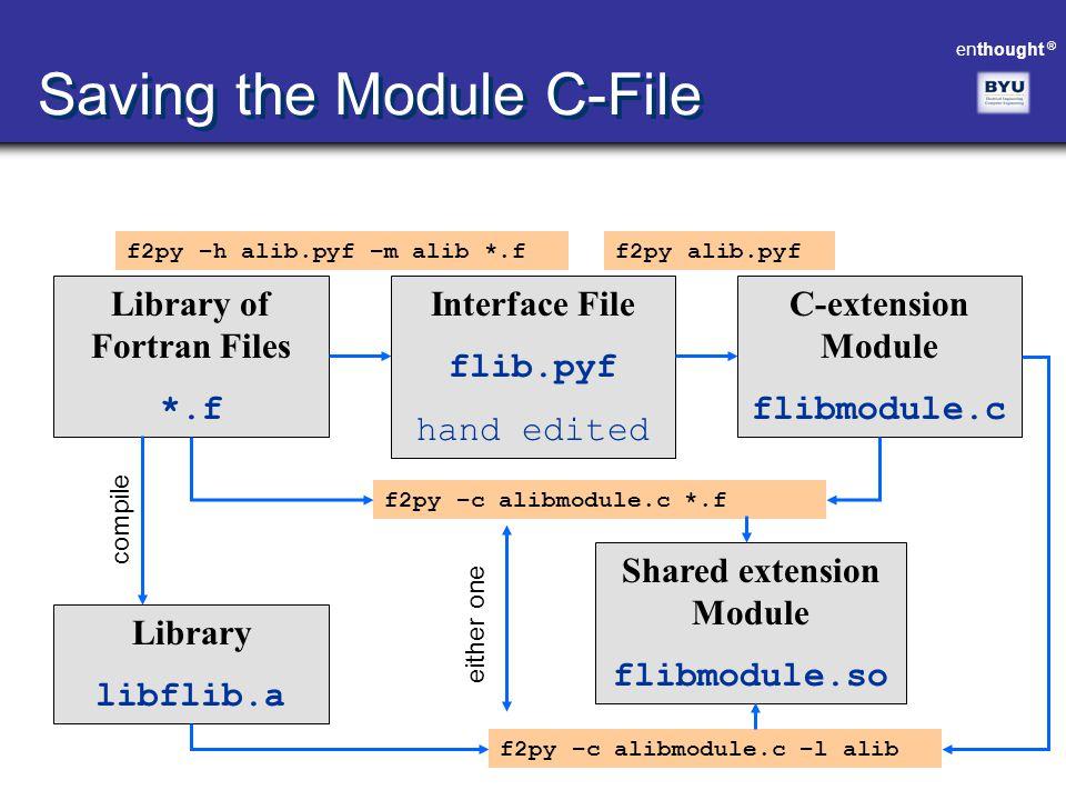 Saving the Module C-File