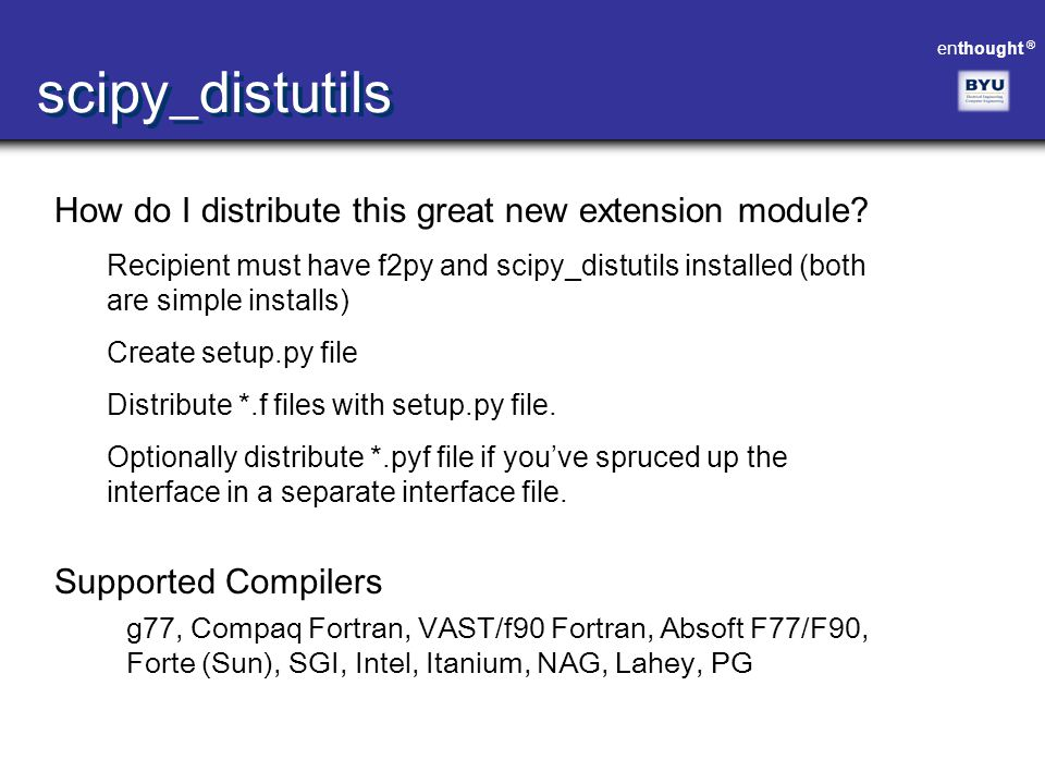 scipy_distutils How do I distribute this great new extension module