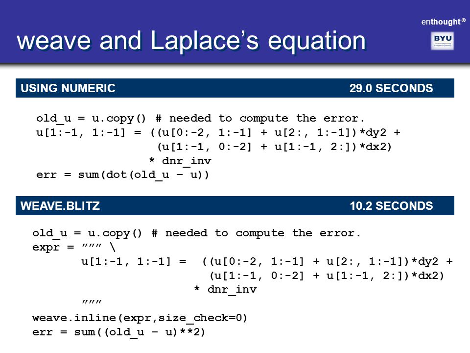 weave and Laplace's equation
