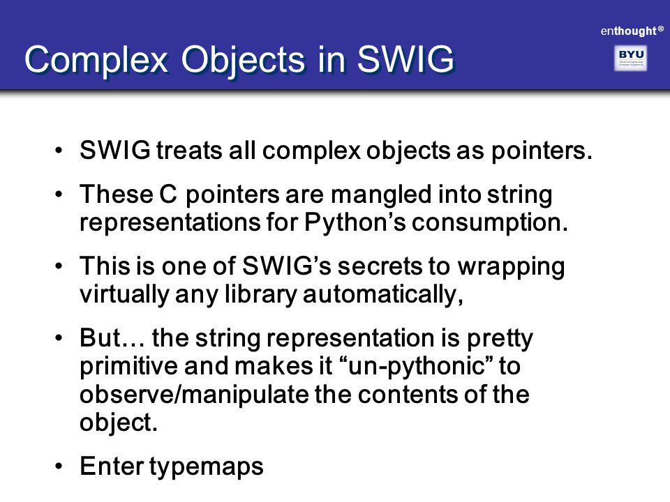 Complex Objects in SWIG