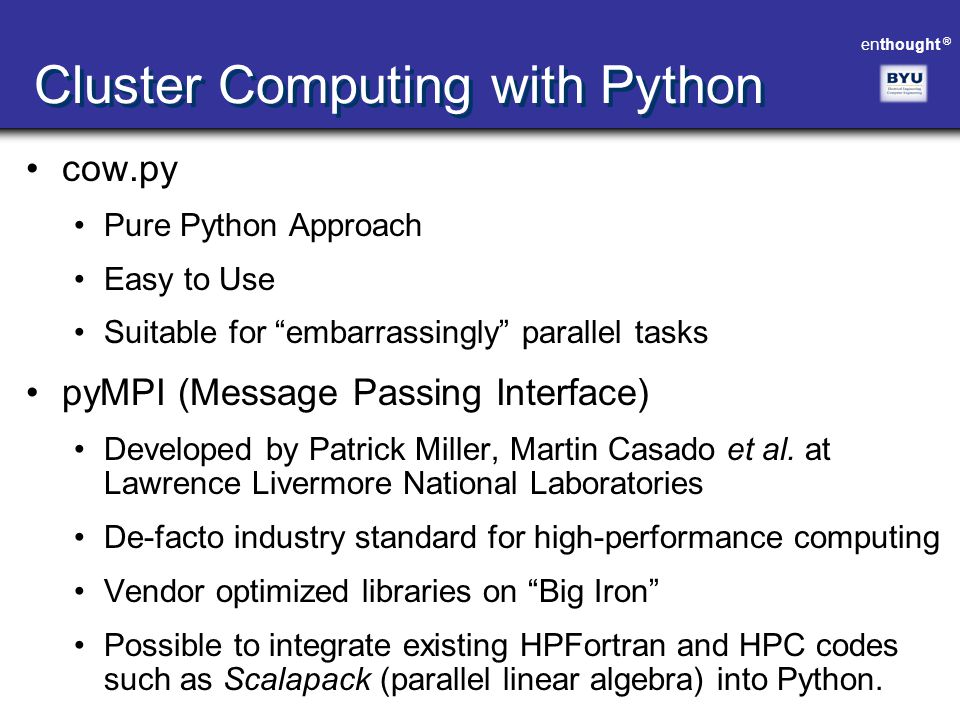 Cluster Computing with Python