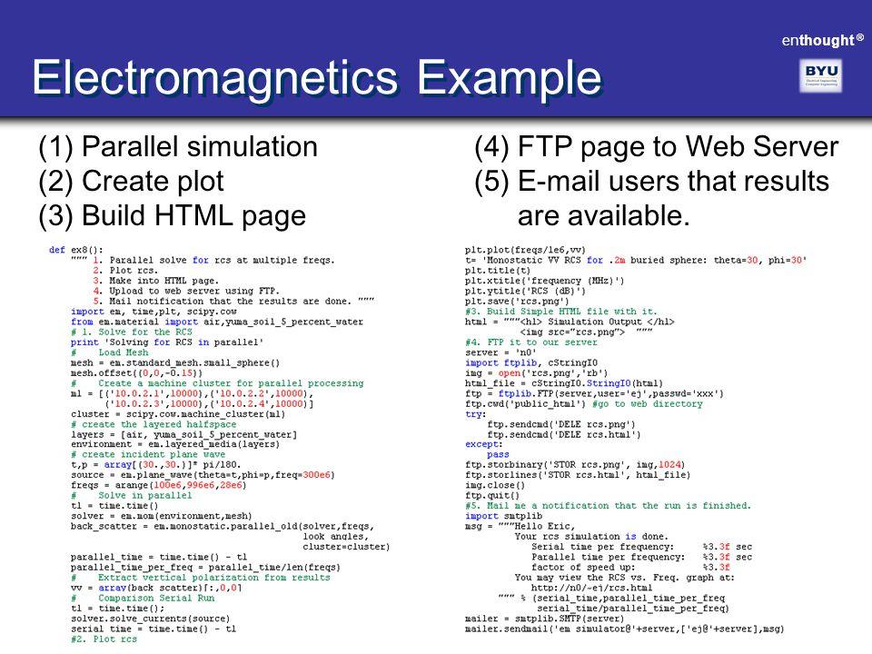 Electromagnetics Example