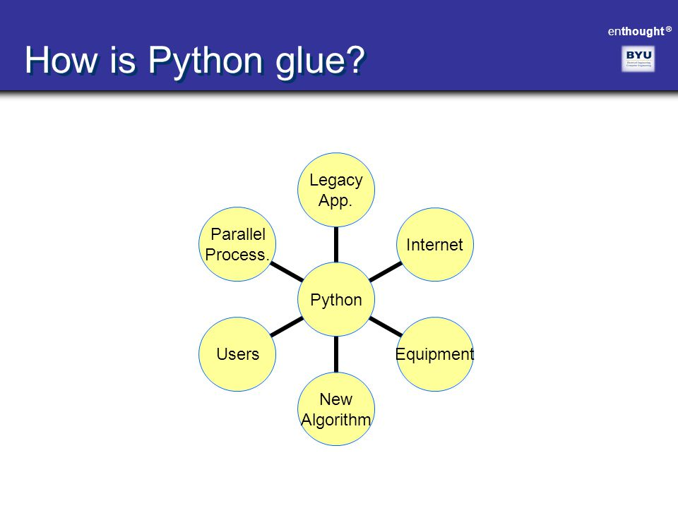 How is Python glue