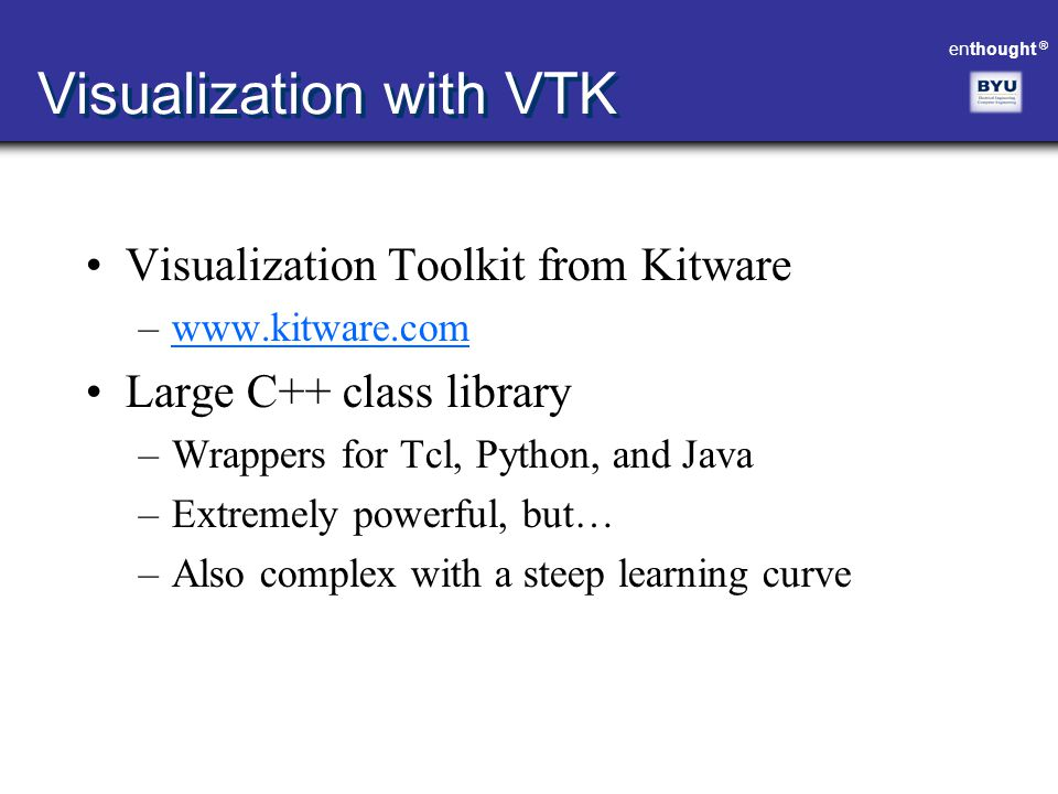Visualization with VTK
