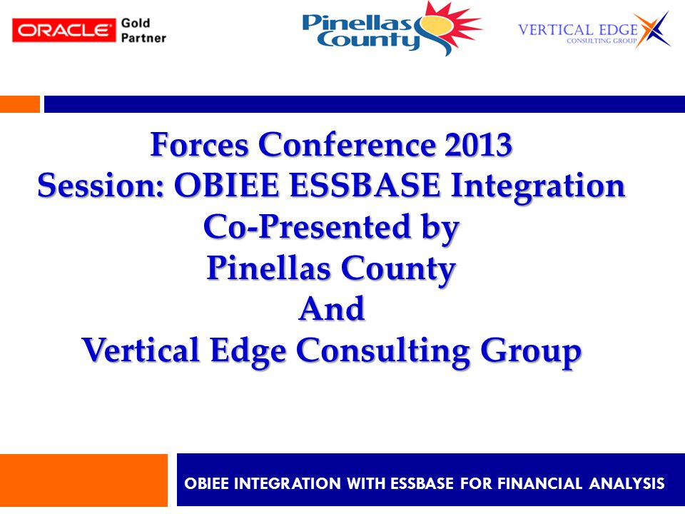 OBIEE Integration with Essbase for Financial ANALYSIS