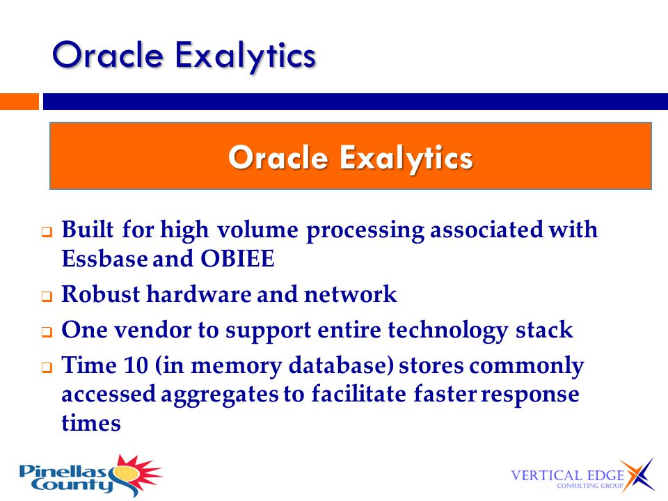 Oracle Exalytics Oracle Exalytics