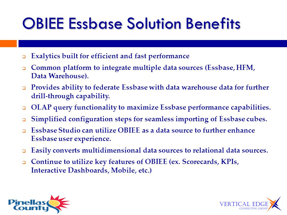 OBIEE Essbase Solution Benefits