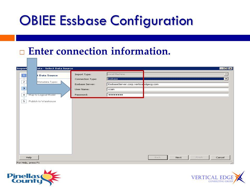 OBIEE Essbase Configuration