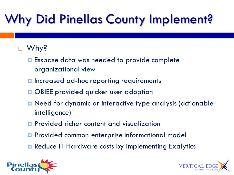 Why Did Pinellas County Implement