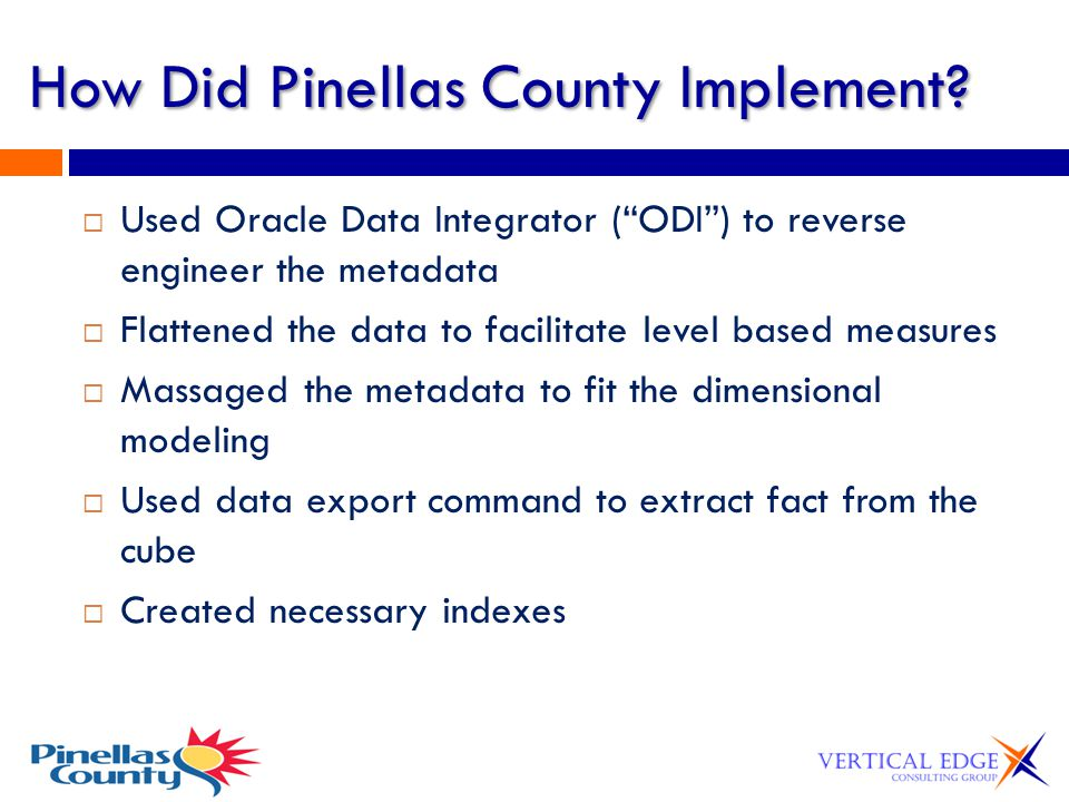 How Did Pinellas County Implement