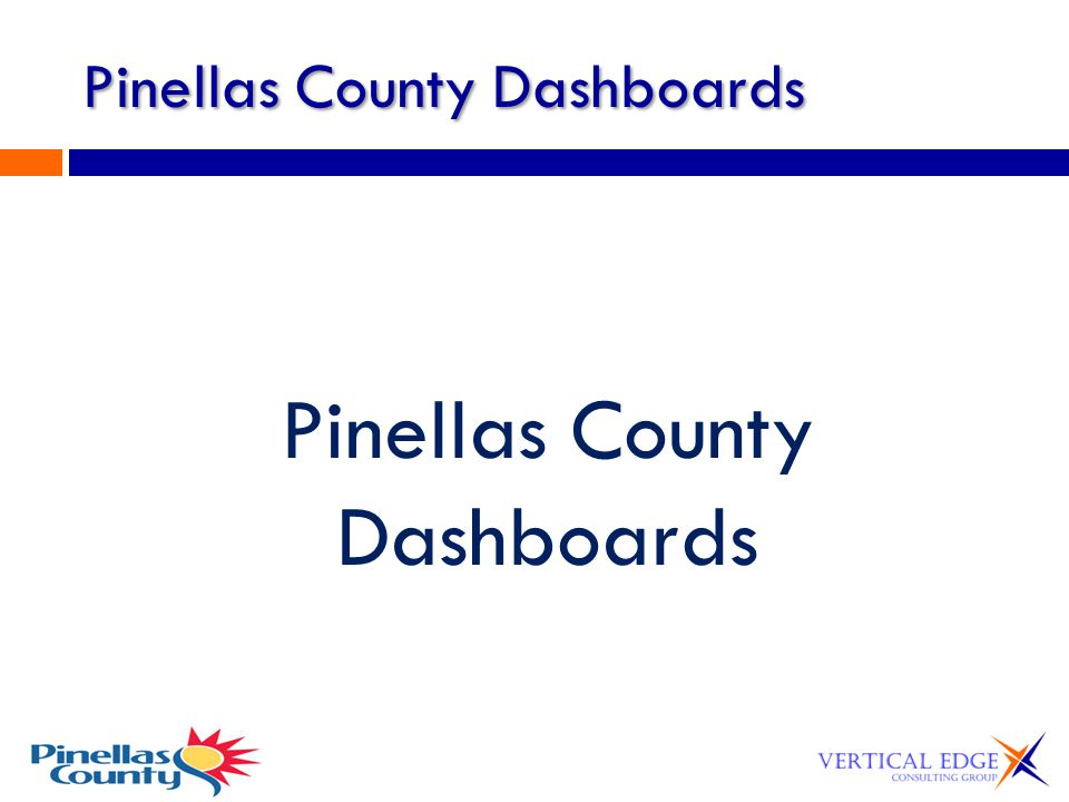 Pinellas County Dashboards