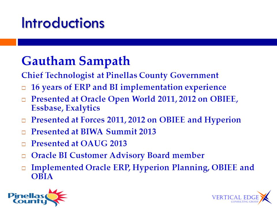 Introductions Gautham Sampath