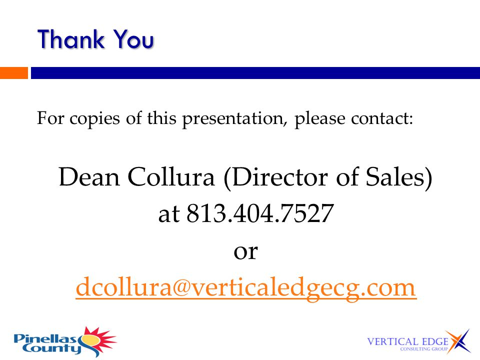 Dean Collura (Director of Sales)