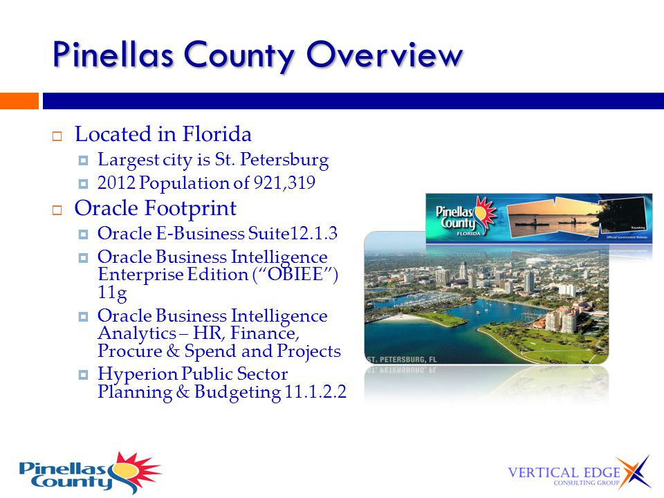 Pinellas County Overview