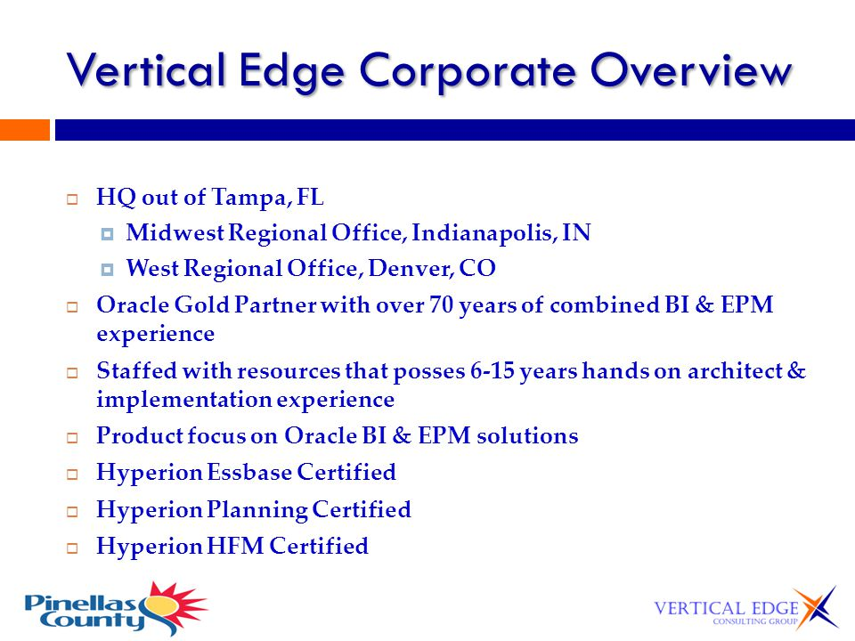 Vertical Edge Corporate Overview