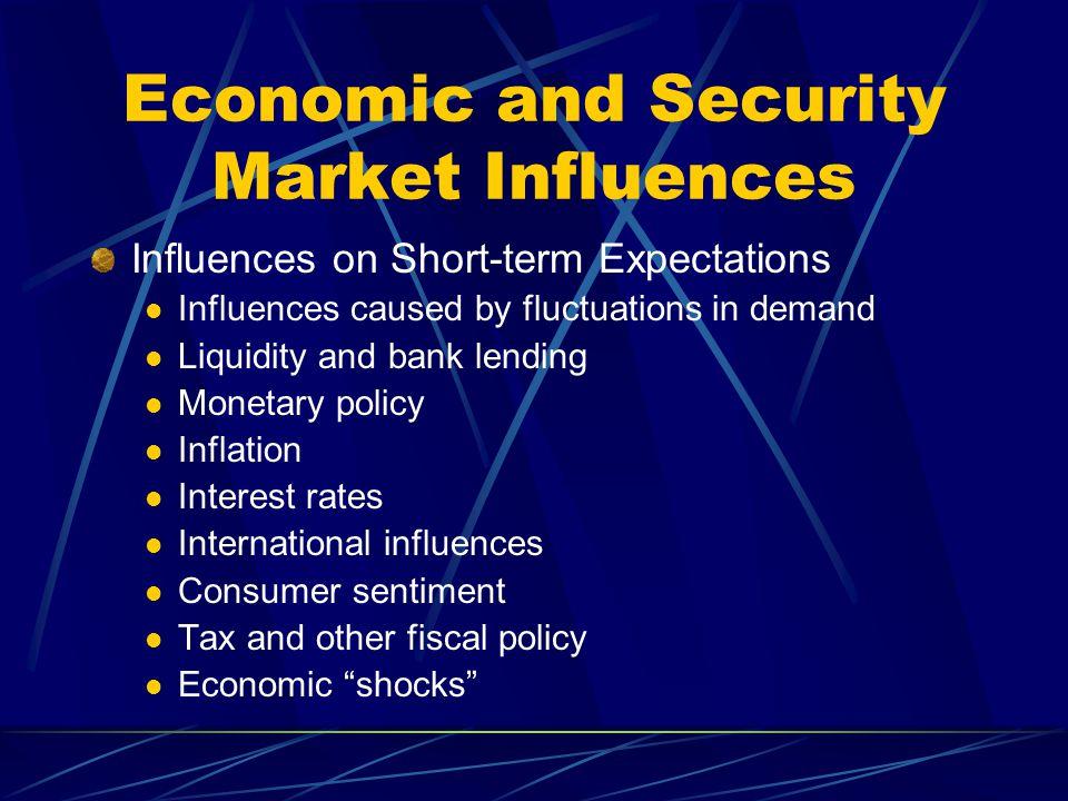Economic and Security Market Influences