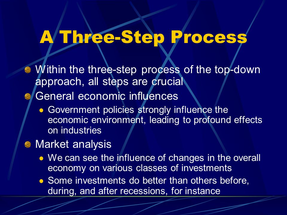 A Three-Step Process Within the three-step process of the top-down approach, all steps are crucial.
