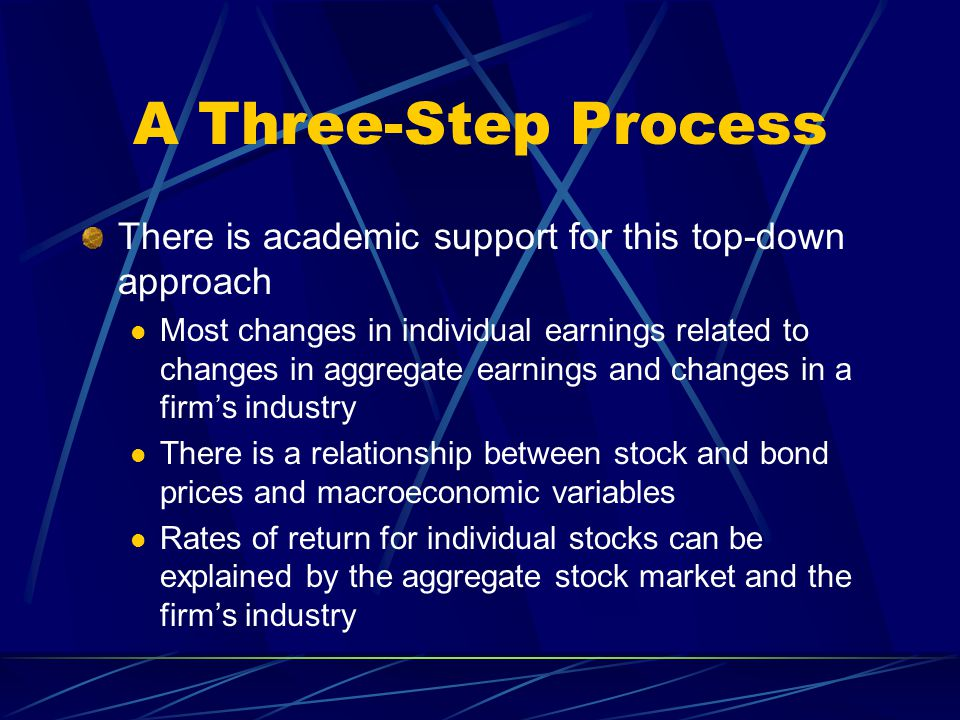A Three-Step Process There is academic support for this top-down approach.