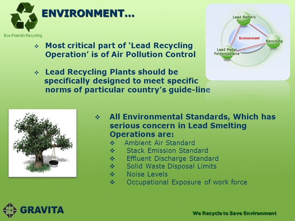 ENVIRONMENT… Most critical part of 'Lead Recycling