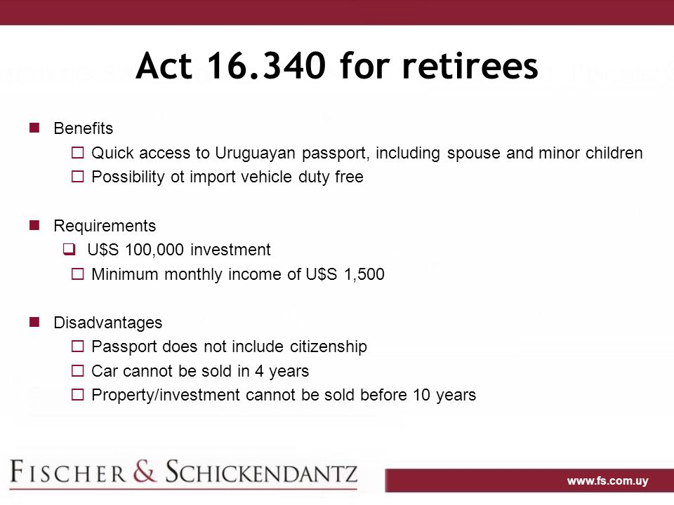 Act 16.340 for retirees Benefits