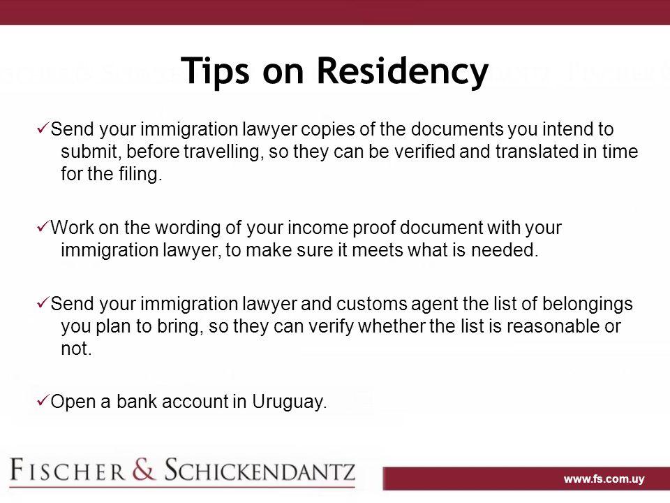 Tips on Residency