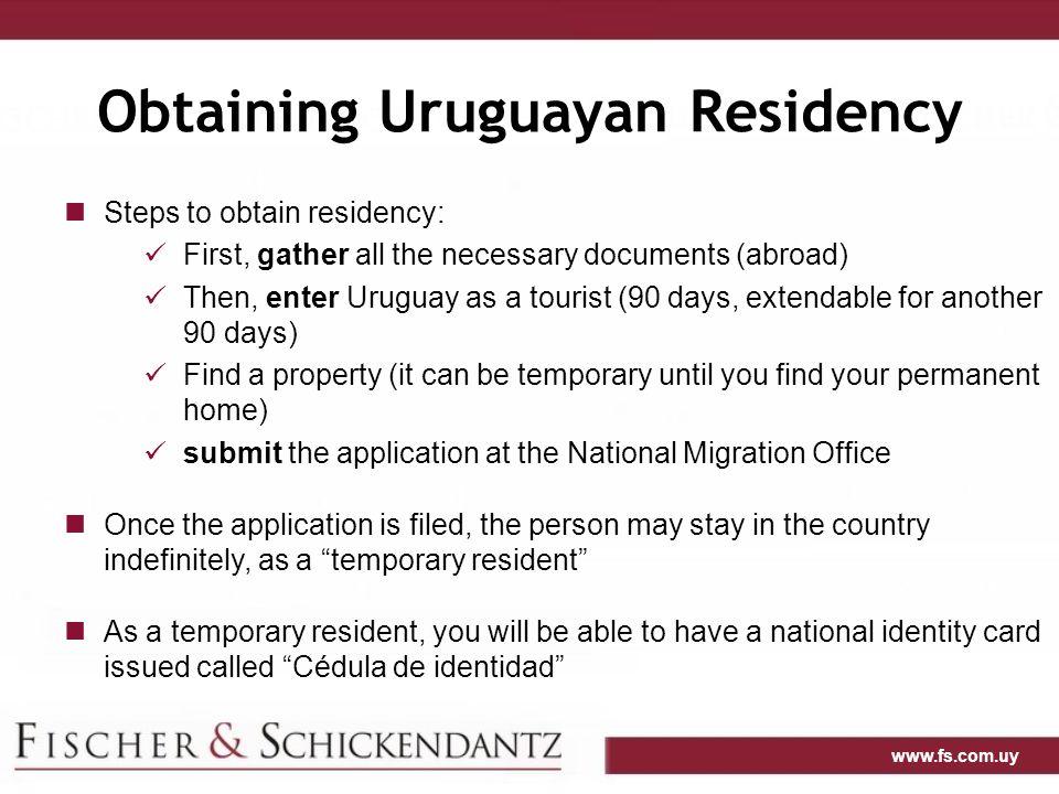 Obtaining Uruguayan Residency