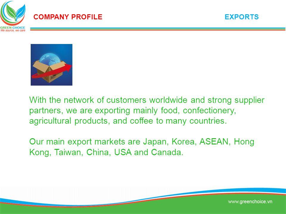 COMPANY PROFILE EXPORTS.