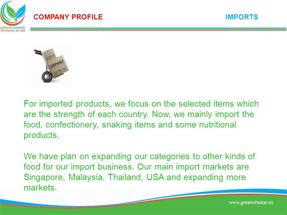 COMPANY PROFILE IMPORTS.