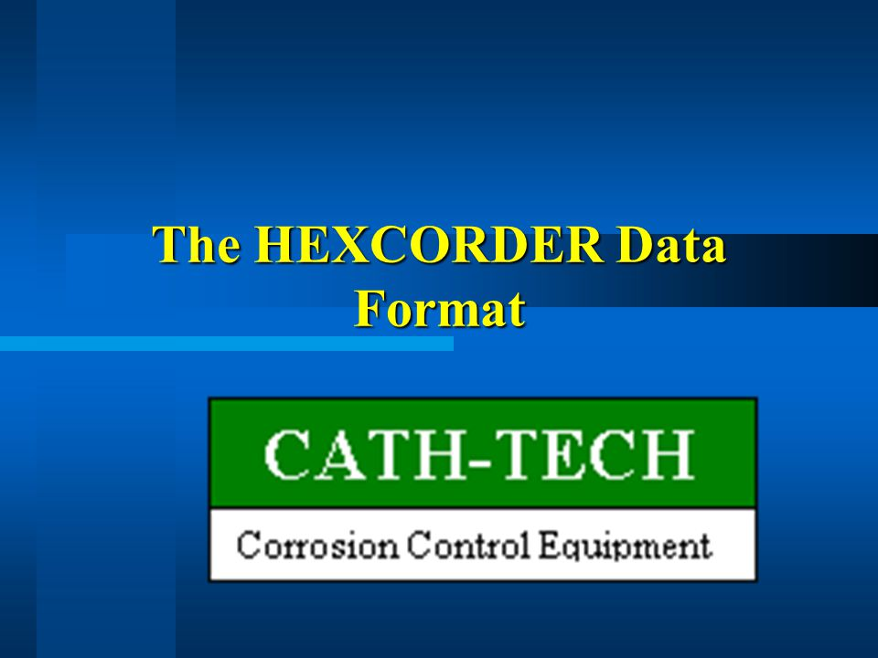 The HEXCORDER Data Format