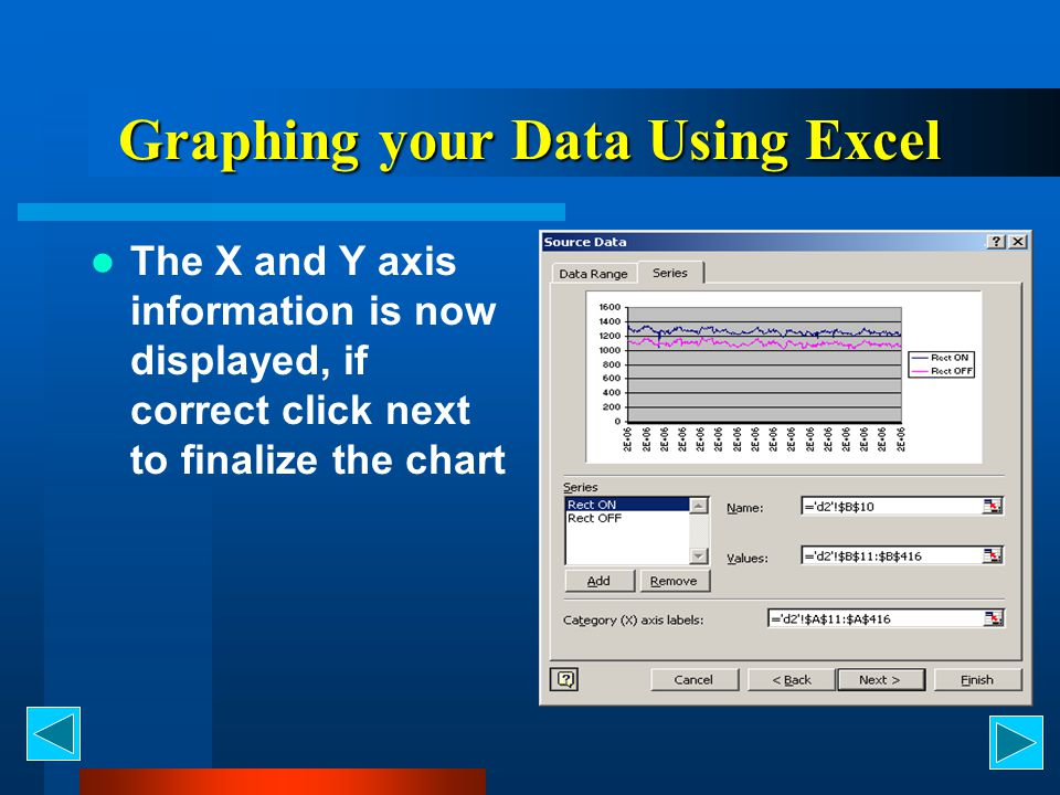 Graphing your Data Using Excel