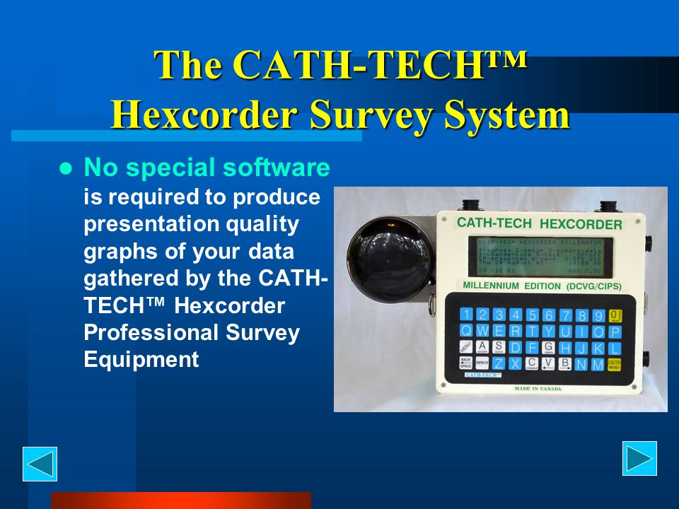 The CATH-TECH™ Hexcorder Survey System