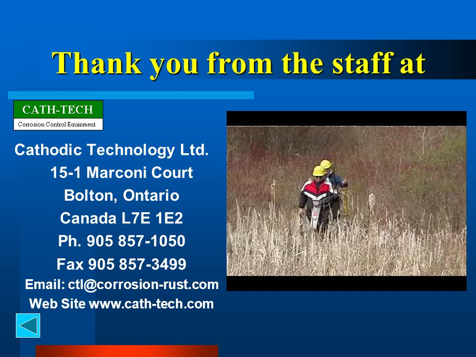 Thank you from the staff at