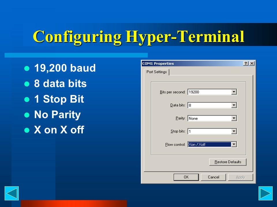 Configuring Hyper-Terminal