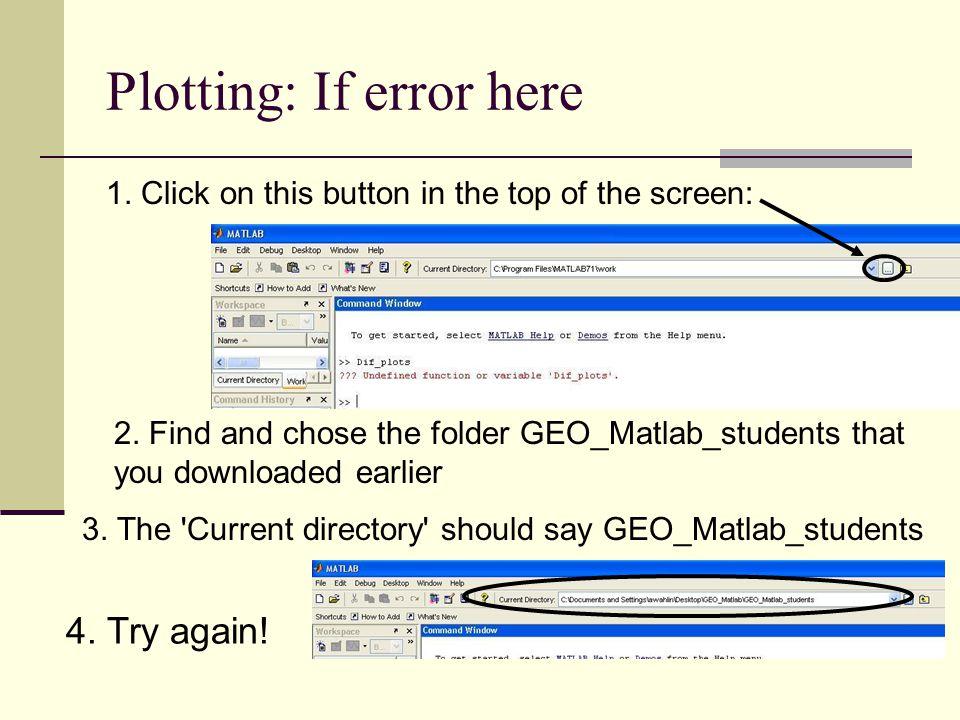 Plotting: If error here