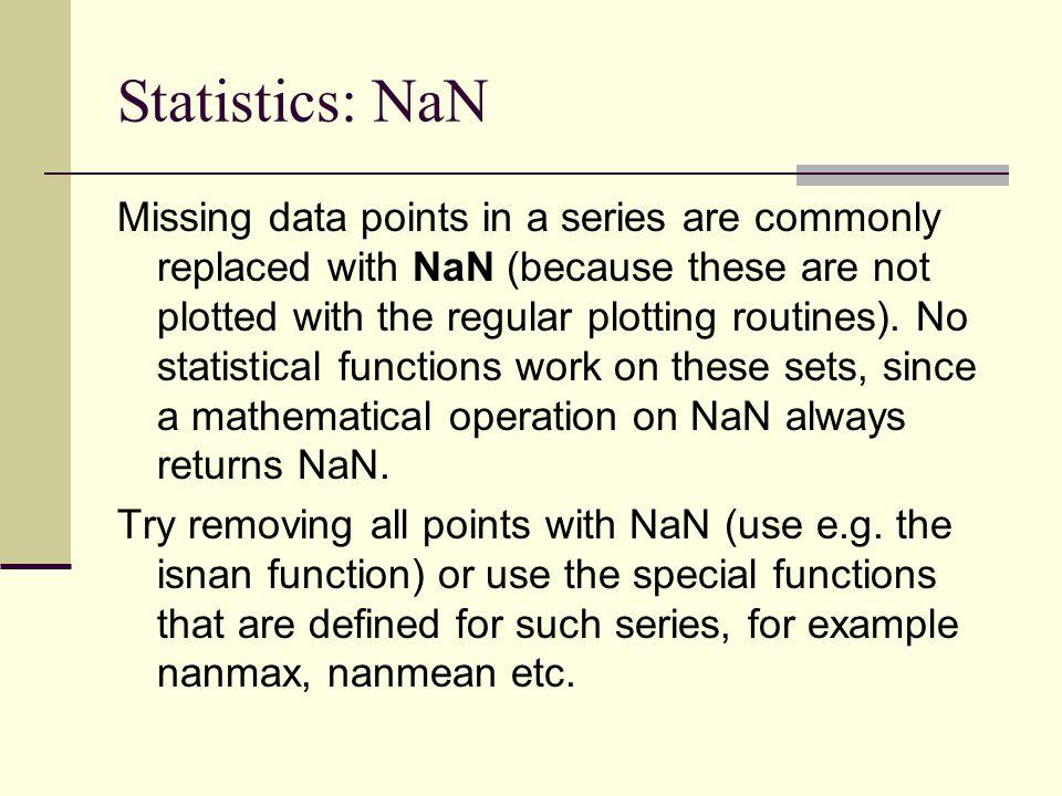 Statistics: NaN