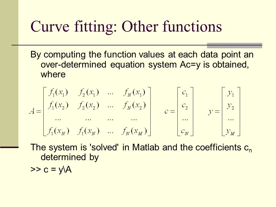 Curve fitting: Other functions