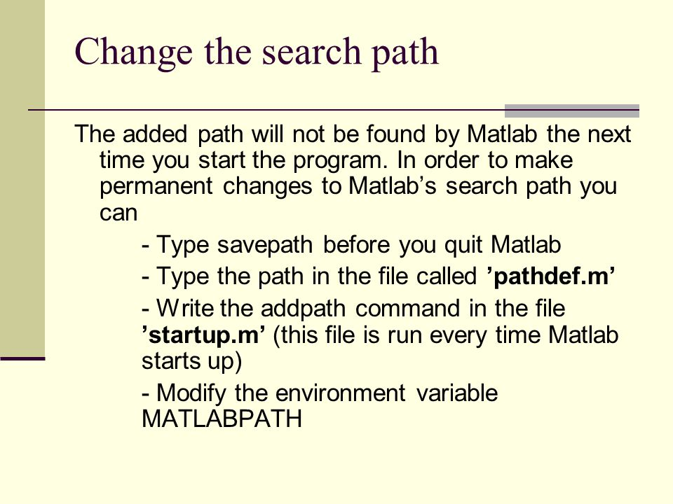 Change the search path
