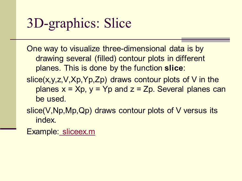 3D-graphics: Slice