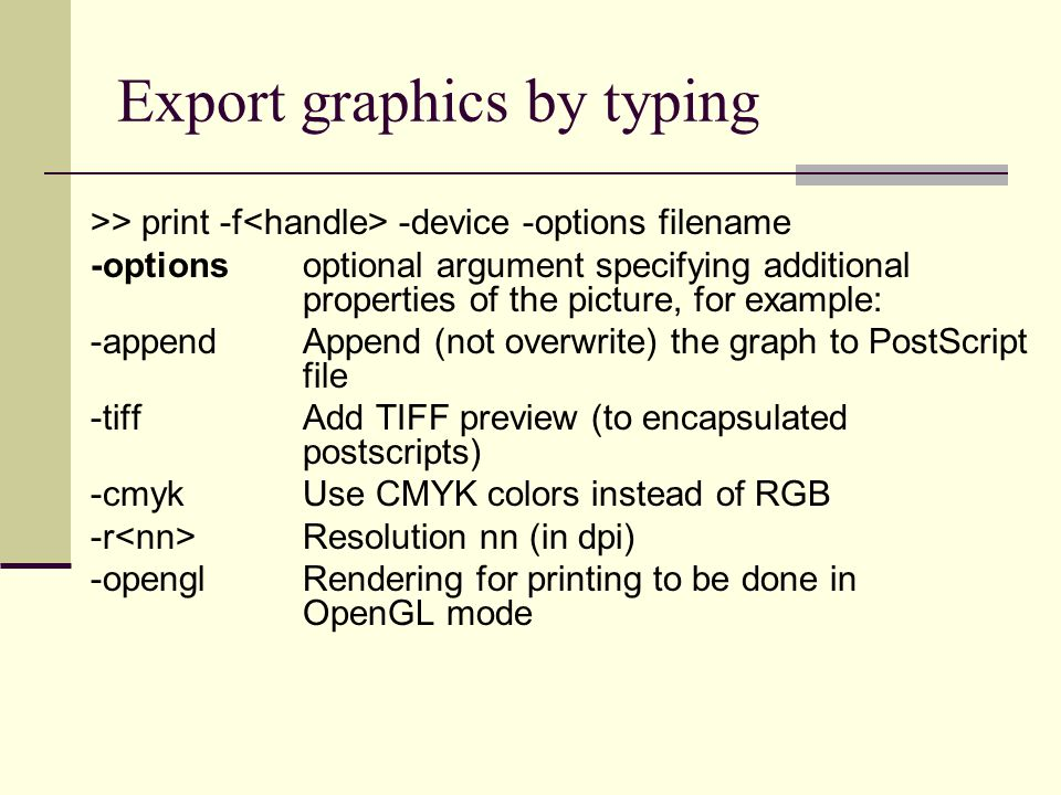 Export graphics by typing