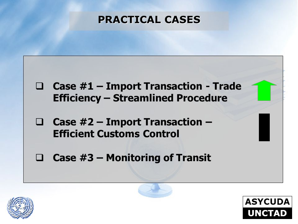 PRACTICAL CASES Case #1 – Import Transaction - Trade Efficiency – Streamlined Procedure. Case #2 – Import Transaction – Efficient Customs Control.