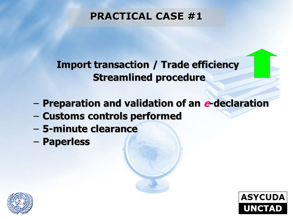 Import transaction / Trade efficiency Streamlined procedure