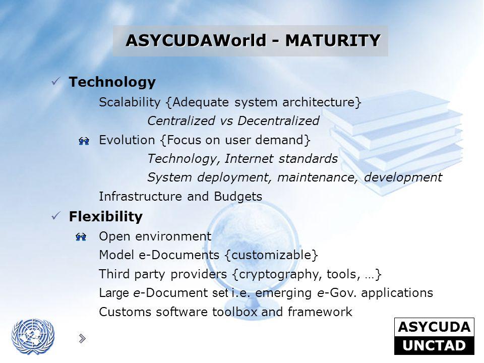 ASYCUDAWorld - MATURITY