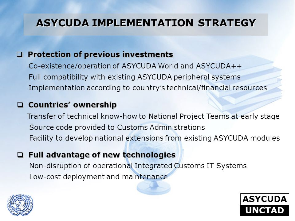 ASYCUDA IMPLEMENTATION STRATEGY