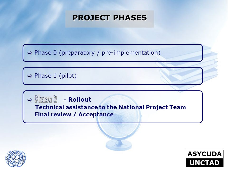 PROJECT PHASES Phase 2 Phase 0 (preparatory / pre-implementation)