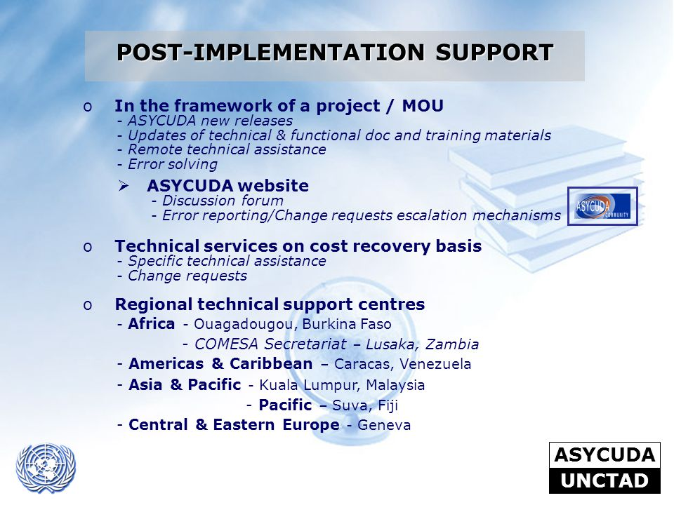 POST-IMPLEMENTATION SUPPORT
